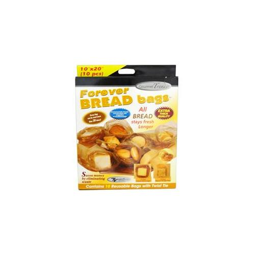 Bulk Buys Gourmet Trends 10 Count Forever Bread Bags - Case of 48