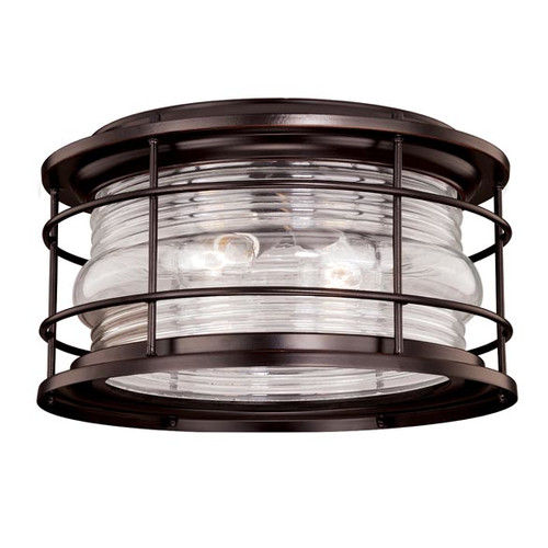 Vaxcel Lighting T0167 Hyannis 2 Light Flush Mount Outdoor Ceiling Fixture with C