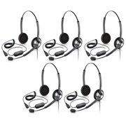 Jabra BIZ1900 Duo Headset & GN1200 Cable Acoustic Shock Protection & Noise-Canceling Mic (5 Pack)