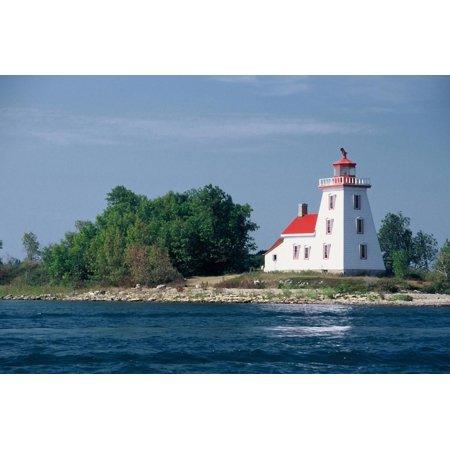 Huron Island Lighthouse (Canada, Ontario, Lake Huron, Strawberry Island Lighthouse. Print Wall Art By Bernard Friel )