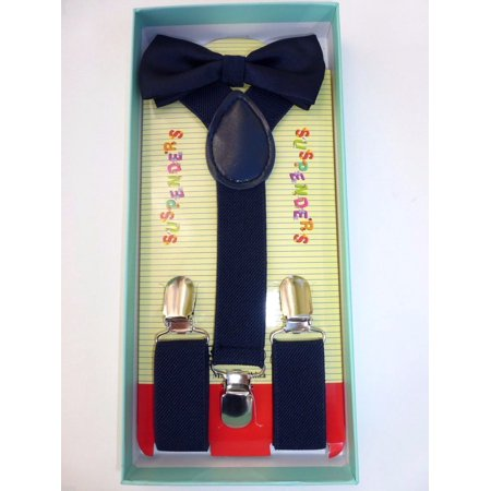 b6b58fdbcdce coool - Baby Toddler Kids Child Navy Blue Suspenders Bow Tie Gift Box Set  USA SELLER - Walmart.com