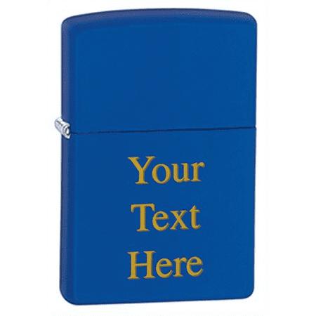 Personalized Matte Zippo Lighter - Free Laser Engraving Custom Gift (Royal  Blue)