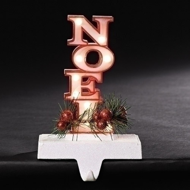 "7"" rouge avec Glittered base Noel Marquee LED allumée Noël Porte-Bas - image 1 de 1"