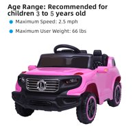 Clearance! Ride On Toys for Boys Girls, Electric Car Car w/ Parental Remote Control & Manual Modes, Music, Horn, Lights, Volume Control Functions, Electric Vehicle for 3-5 Years Old, Pink, W4513