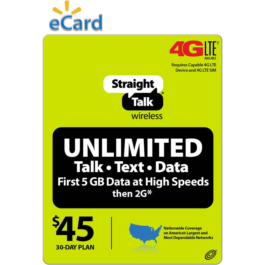 (Email Delivery) Straight Talk Monthly Plan Unlimited 30 Access Days $45