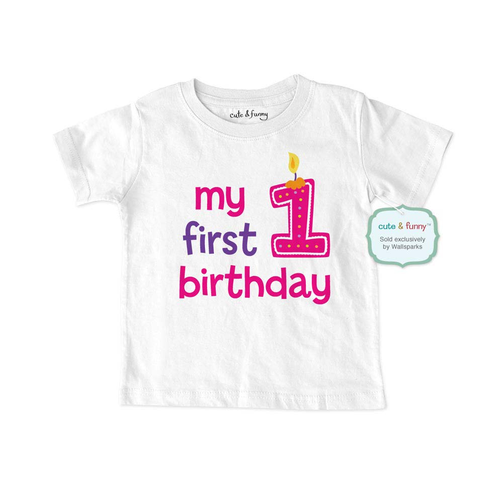 Baby First Birthday Shirt Girl