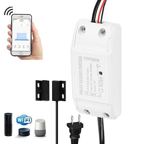 2.4 GHz Garage Smart Phone WiFi Garage Door Opener Controller for Alexa//Google