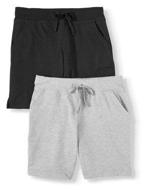 Athletic Works Women's Athleisure French Terry Short 2-Pack