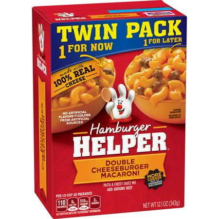 Hamburger Helper Double Cheeseburger Macaroni 2 1 Oz   Twin Pack
