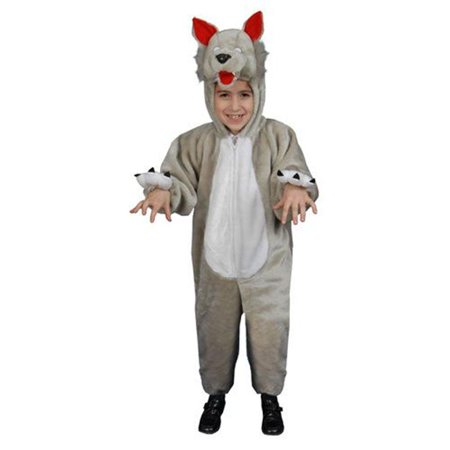 Kids Plush Wolf Costume Size: Small - Wolf Pack Costume
