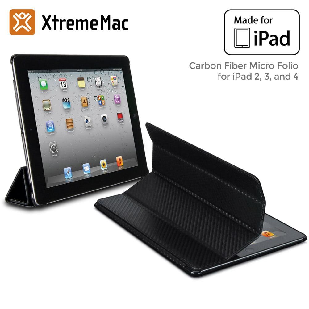 XtremeMac Carbon Fiber Micro Folio for iPad 2, 3 & 4, Black