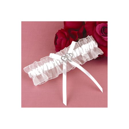 White With All My Heart Garter - Perfect Wedding Gift