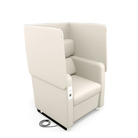 Ofm Morph Series Model 2201 Privacy Chair With Flip Up Privacy Panels   Ac Usb Recharge Panel  Anti Microbial Anti Bacterial Vinyl  Linen