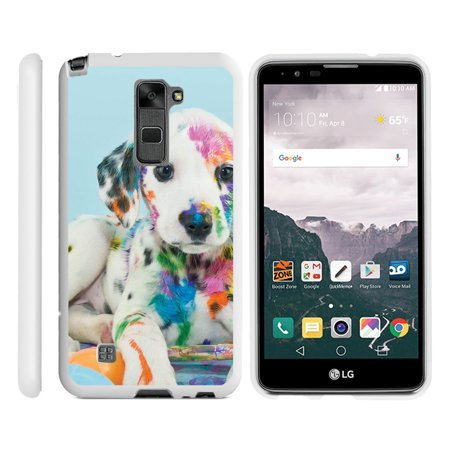 Lg Stylo 2  Lg Stylus 2  Ls775   Snap Shell  Matte Black  2 Piece Snap On Rubberized Hard Plastic Cell Phone Cover With Cool Designs   Sugar Skull Design