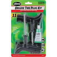 Slime 11-Piece Deluxe Tire Plug Kit with Glue - 2040-A
