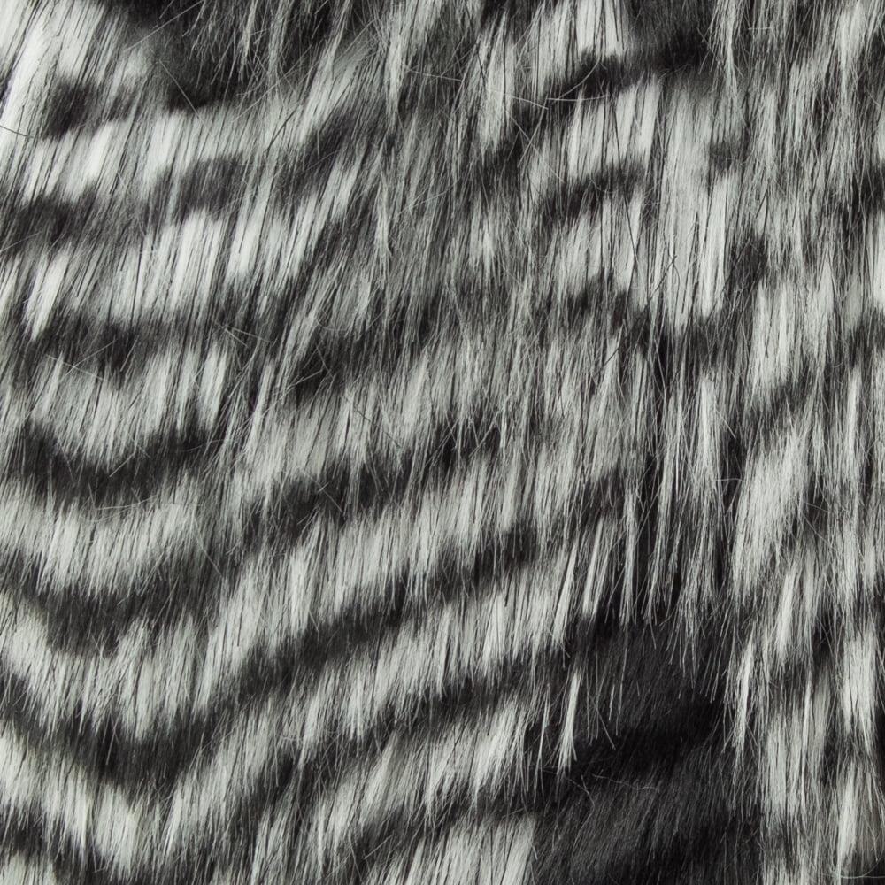 Plutus PBEZ1785-96x110T Porcupine Faux Fur Luxury Throw Blanket, Grey & Silver - Queen - image 1 of 3