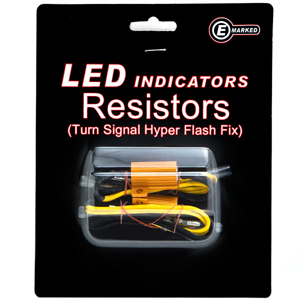 Krator LED Bulb Load Resistors Flashers Turn Signals Indicators Side Lights Fix for Cars Motorcycles Trucks Accent Lights