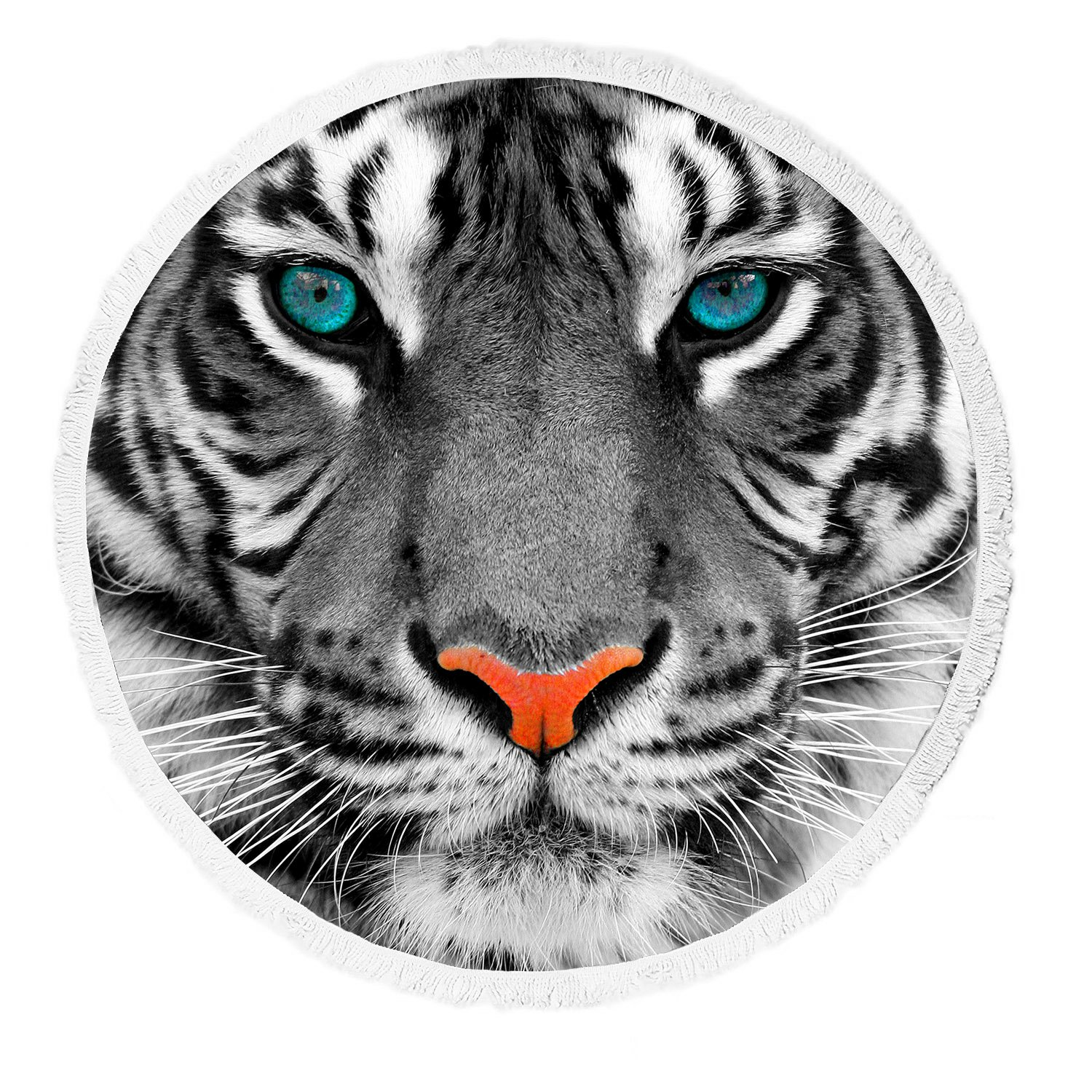 Yoga Towel Tiger: GCKG Animal Beach Towel, The Eyes Of White Tiger King