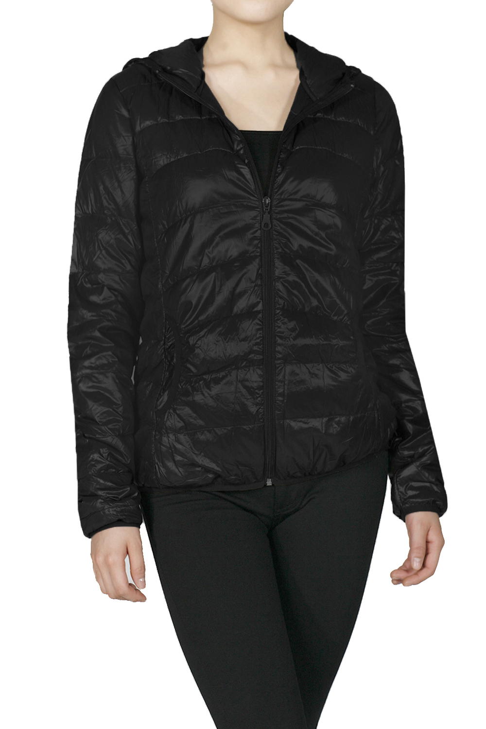 Emmalise Junior Women's Light Weigth Down Parka Jacket with Hoodie and Vest