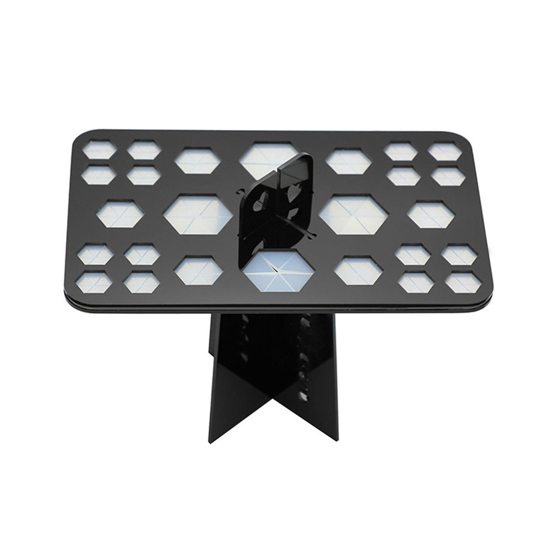Black Acrylic 26 Hole Brushes Holder Drying Rack Cosmetic Display Shelf