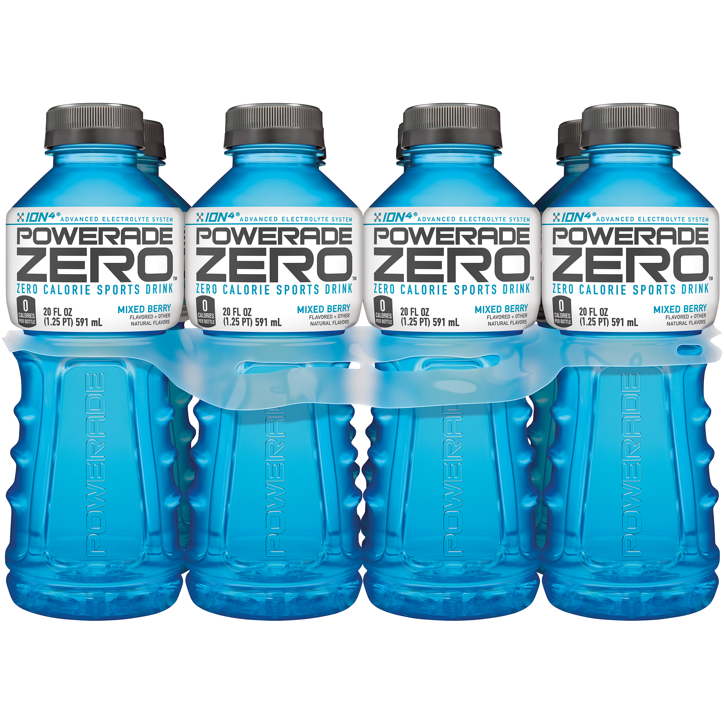 POWERADE ZERO Sports Drink, Mixed Berry, 20 fl oz, 8 Pack