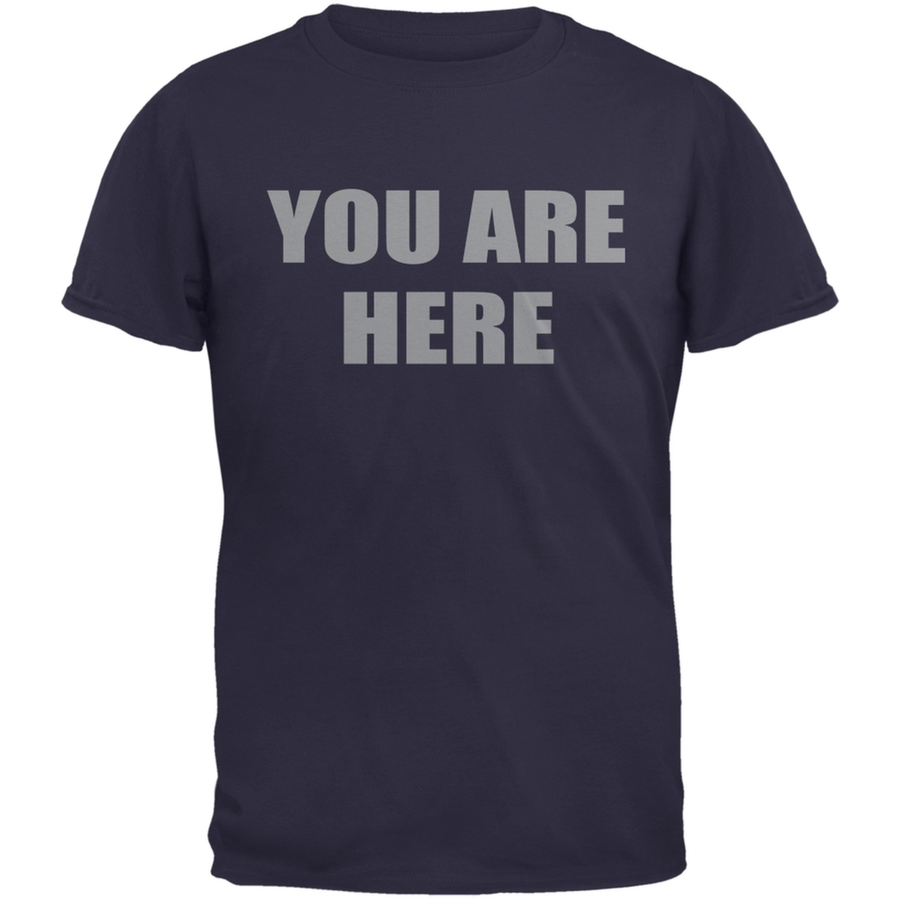 You Are Here Inspired By John Lennon Navy Adult T-Shirt