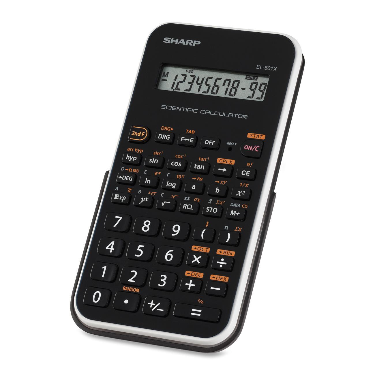 Sharp EL-501XBWH Scientific Calculator, Black, White, 1 Each (Quantity)