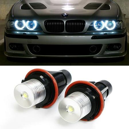 Bulb Marker (iJDMTOY (2) 7000K White High Power LED Angel Eyes Ring Marker Bulbs for BMW 5 6 7 Series X3 X5 (Fit E39 E53 E60 E63 E64 E65 E66)