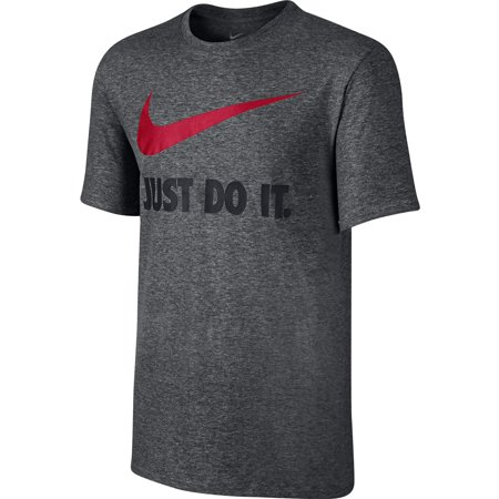 Nike Just Do It Swoosh Men's T Shirt charcoal 707360-071 (Size L)