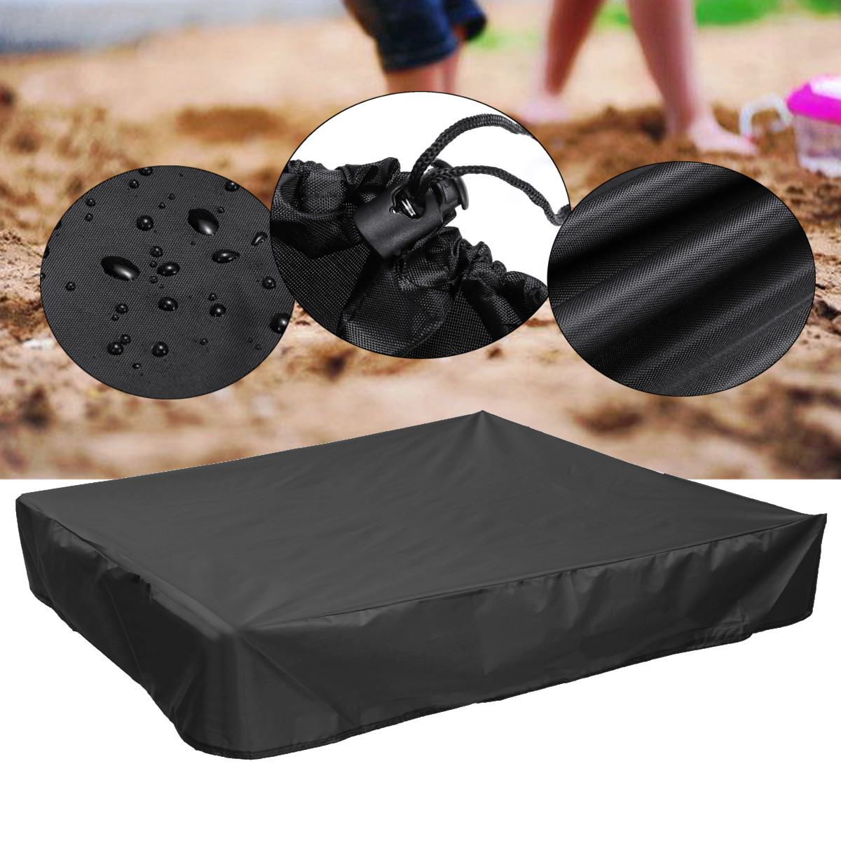 Oxford Green Sandbox Sandpit Cover Dustproof Waterproof with Drawstring HOT