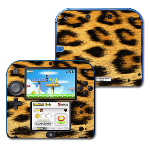 Mightyskins Protective Vinyl Skin Decal Cover for Nintendo 2DS wrap sticker skins Cheetah