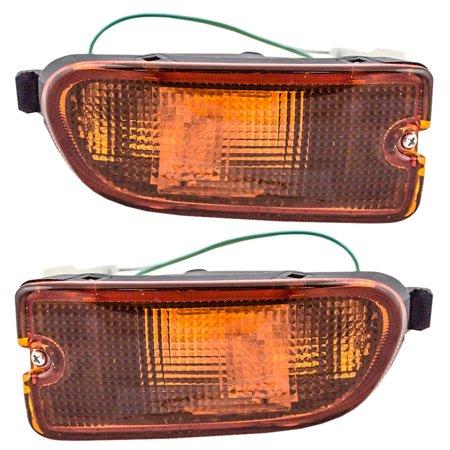 Pair Set Park Signal Front Marker Lights Lamps Bumper Mounted Replacement for 99-01 Subaru Impreza RS 84441FA170 - Signal Marker Light Set