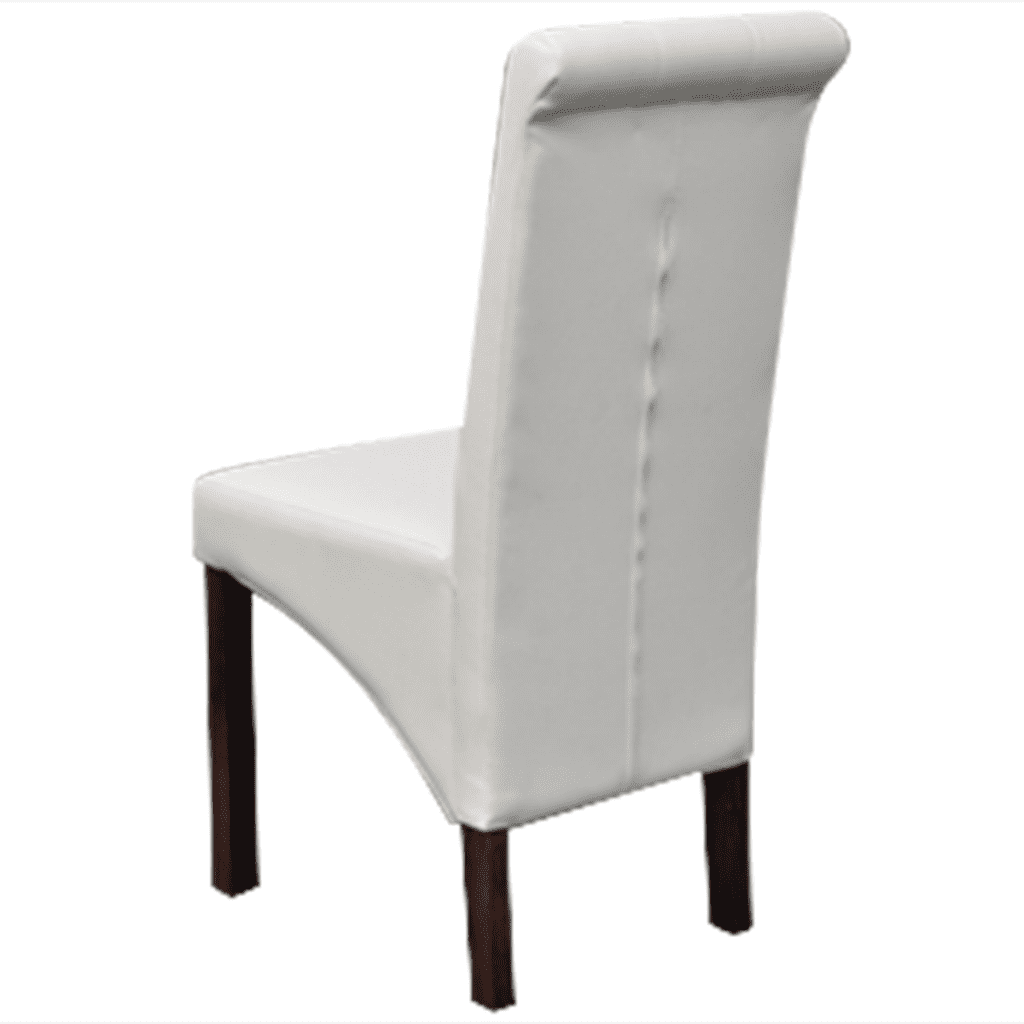 Tremendous Anself 4 Scroll Back Artificial Leather Wooden Dining Chairs Pabps2019 Chair Design Images Pabps2019Com