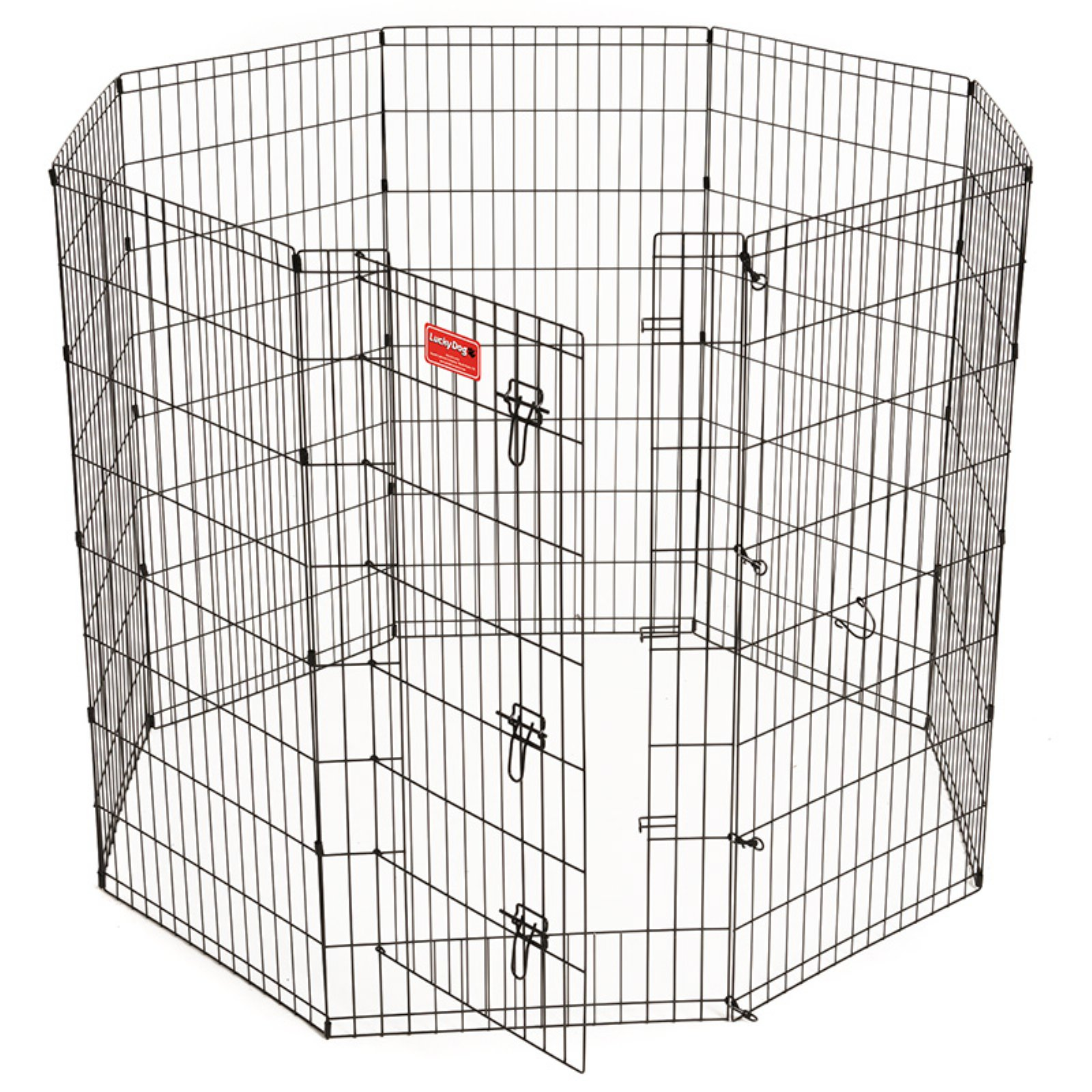 Lucky Dog Heavy-Duty Pet Exercise Pen with Stakes, 48""