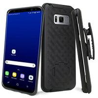 [Samsung Galaxy S8] Case, REDshield [Black] Heavy Duty Slim Matte Holster