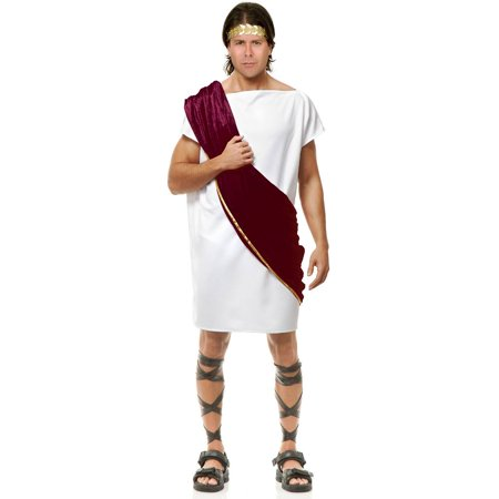 Boys Toga (Wine & White Toga Man Adult)