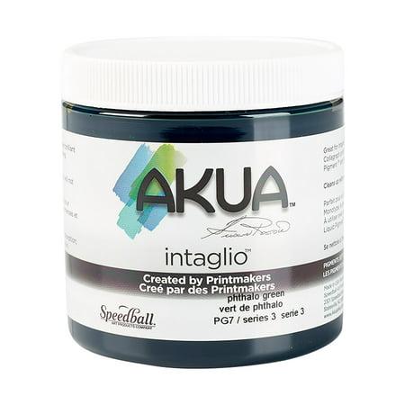 Speedball Akua Intaglio Ink, Phthalo Green, 8 oz. (Akua Kolor Ink)