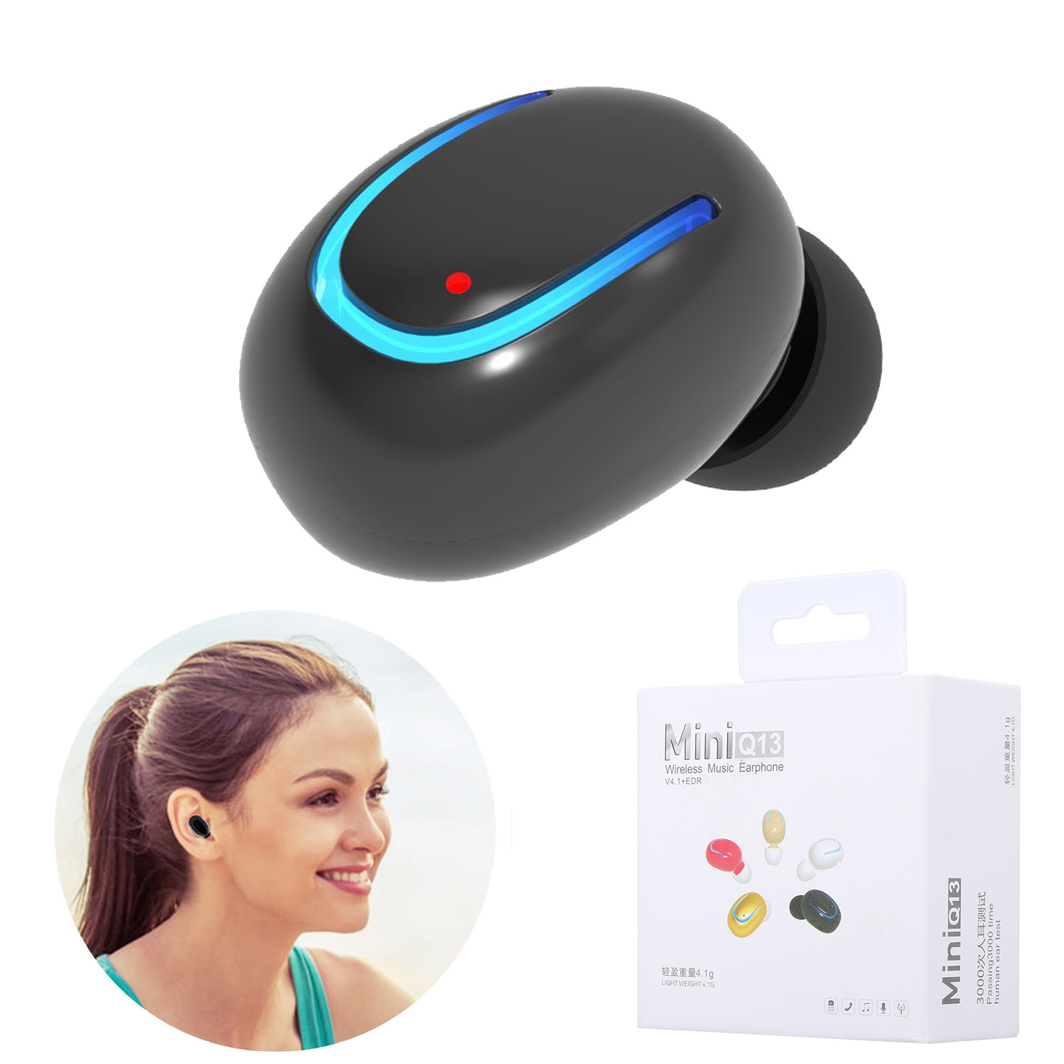 Mini Bluetooth Earbud Smallest Wireless Invisible Headphone With 6 Hour Playtime Car Headset With Mic for iPhonE X 8 7 Samsung LG Android