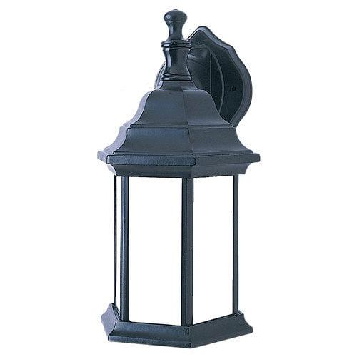 Sea Gull Lighting 321032  1-Light Fluorescent Outdoor Wall Lantern Black Finish