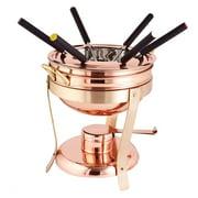 2¾ Qt. Décor Copper & Brass Fondue Set w/6 Forks,