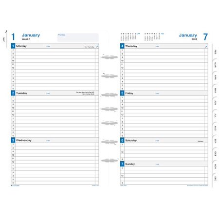 Daytimer Planner | Day Timer Simply Stated 2 Page Per Week Planner Refill Desk Size