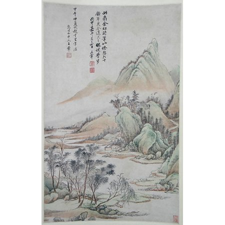 Landscape In The Style Of Zhao Boju  Fang Zhao Boju Shanshui  Poster Print By After Wang Hui  Chinese 1632   1717   18 X 24