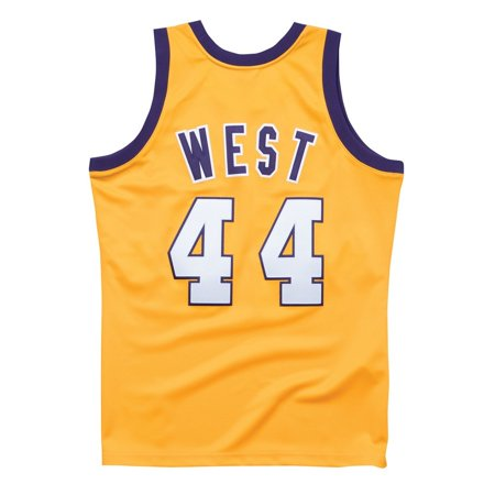the best attitude aa387 10924 Jerry West 1972 NBA All Star West Mitchell & Ness Authentic Gold Jersey  Men's