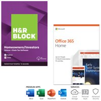 [$40 Savings Bundle] H&R Block Deluxe State (physical) & Tax and Microsoft 365 Home (digital code)