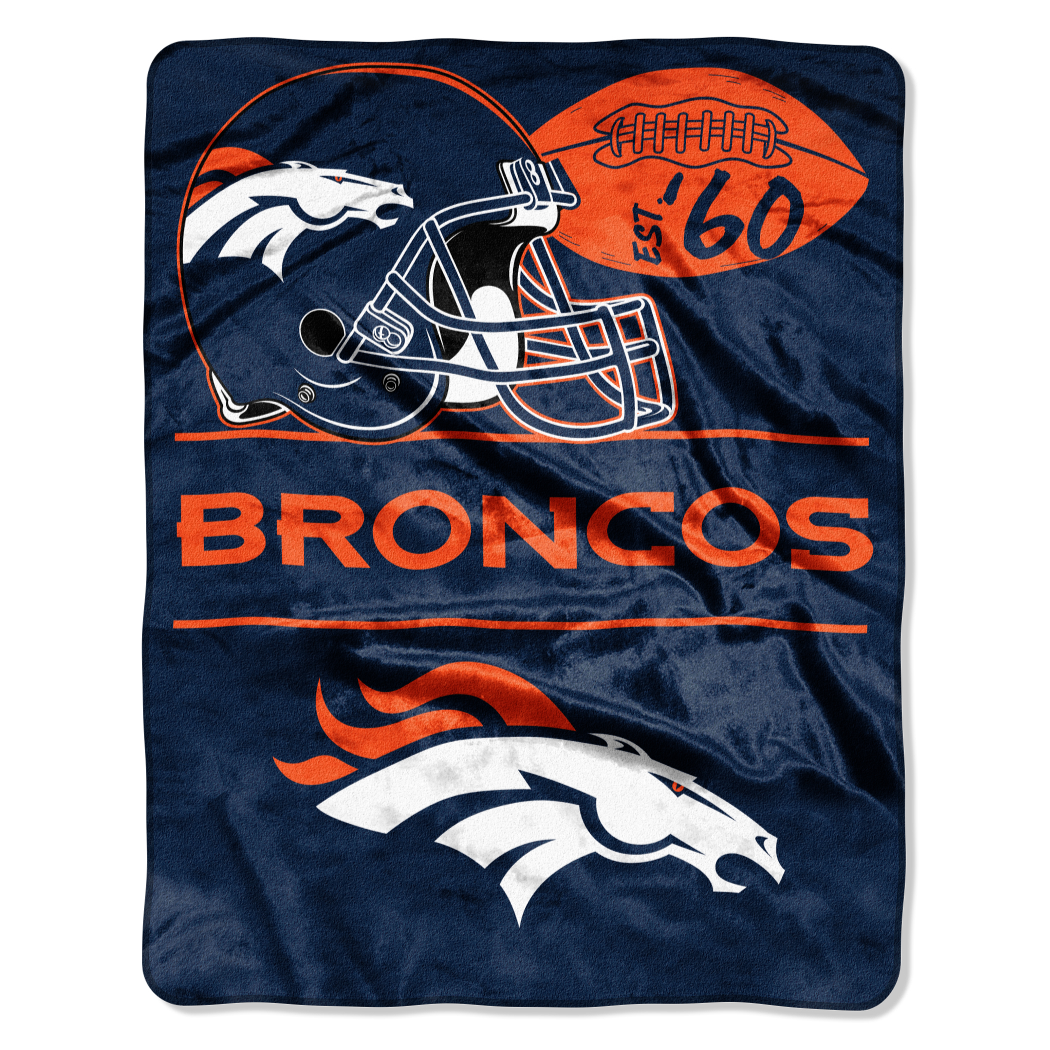 """Broncos """"Conference"""" - Silk Touch Throw Blanket, 55"""" x 70"""""""