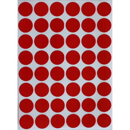 "Red Dot Sticker approximately ~ 3/4"" Round 17 mm, Color Coding Labels 0.69 inch labels in 720 Pack  by Royal Green"
