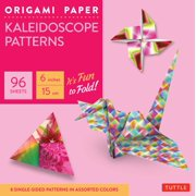 "Origami Paper - Kaleidoscope Patterns - 6"" - 96 Sheets : Tuttle Origami Paper: High-Quality Origami Sheets Printed with 8 Different Patterns: Instructions for 7 Projects Included"