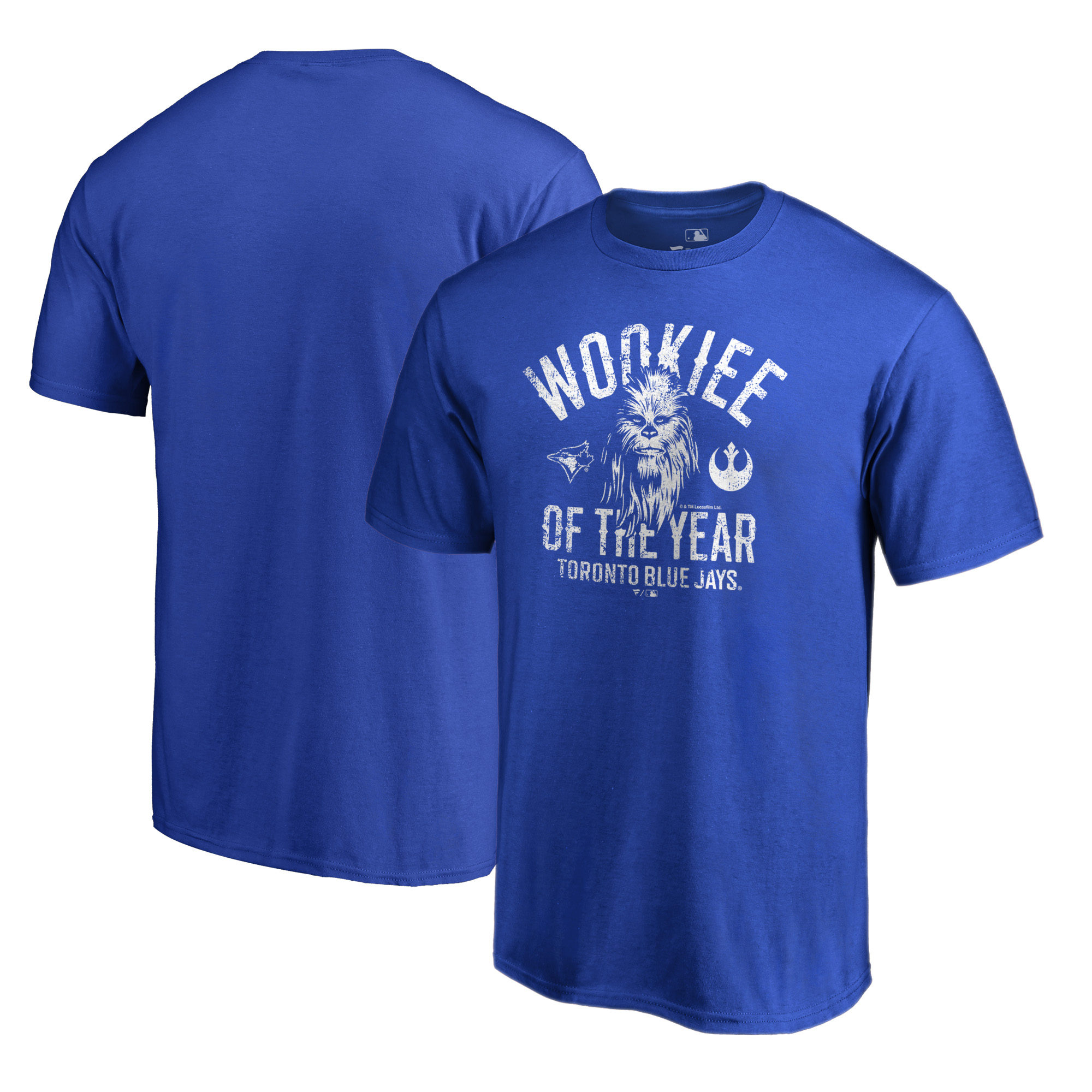 Toronto Blue Jays Fanatics Branded Star Wars Wookiee Of The Year T-Shirt - Royal