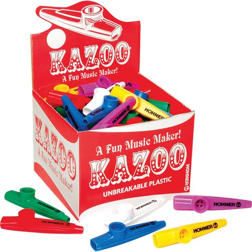 Hohner Assorted Colors Box of 50 Kazoos