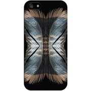 Centon On the Move Apple iPhone 5 Black Matte Case Feather Collection, Doubles